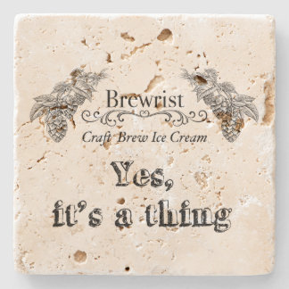 Craft Brew Ice Cream   Yes, it's a thing! Stone Beverage Coaster