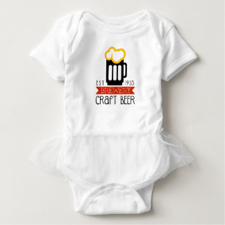 Craft Brewery Logo Design Template Baby Bodysuit