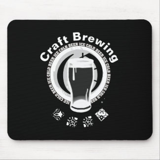 Craft Brewing, Black & White 2 Mouse Pad