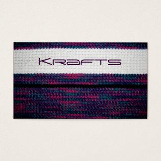 Craft business business card