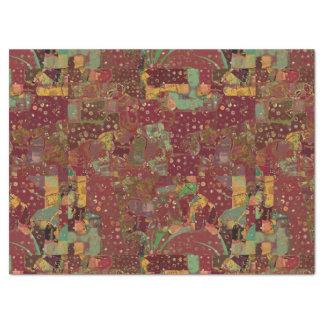 Craft Decoupage Boho Collage Swatch Deep Pinks Tissue Paper