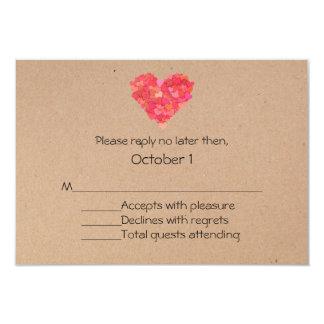 Craft Hearts Wedding RSVP Card