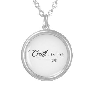 Craft Living Logo Silver Plated Necklace