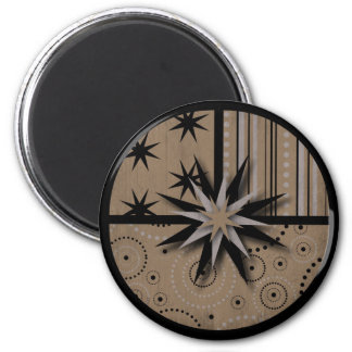 Craft Paper look Magic and Witchcraft Prints 2 Inch Round Magnet