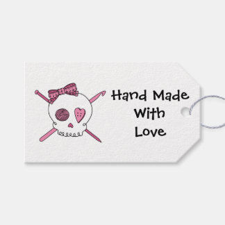 Craft Skull -Knitting & Crochet (Hair Bow) Gift Tags