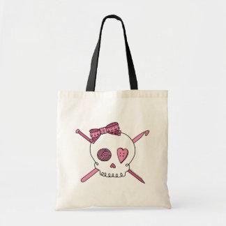 Craft Skull (Pink) Tote Bag