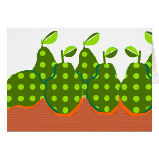 Crafted Artsy Green Pears Modern Design Card