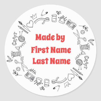 Crafters Made By Sticker