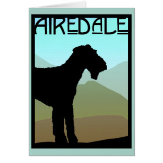 Craftsman Airedale Terrier Card