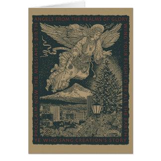 Craftsman Angel Christmas Greeting Card