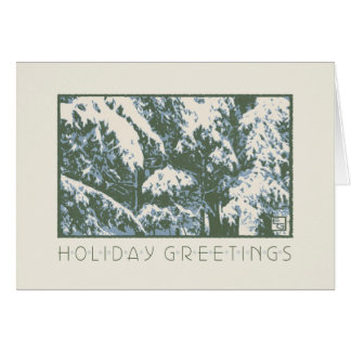 Craftsman Balsams in Snow Greeting Card