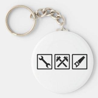 Craftsman Basic Round Button Keychain