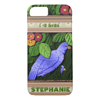 Craftsman Birds - Personalized iPhone 7 Case