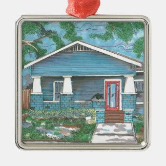Craftsman by Thompson Kellett Silver-Colored Square Ornament