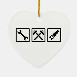 Craftsman Ceramic Heart Ornament