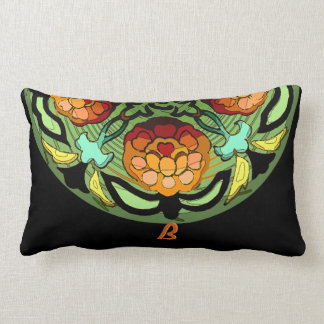 Craftsman Garden in Autumn Colours - Monogrammed Lumbar Pillow