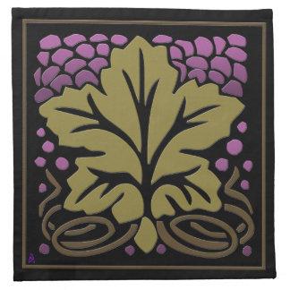 Craftsman Grape Leaf and Grapes (4 Cloth Napkins) Printed Napkins