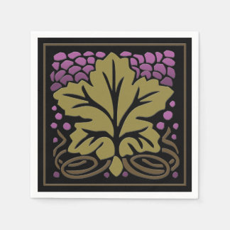 Craftsman Grape Leaf and Grapes (50 Paper Napkins) Disposable Napkins