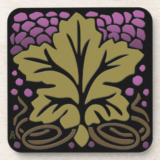 Craftsman Grape Leaf and Grapes Coasters