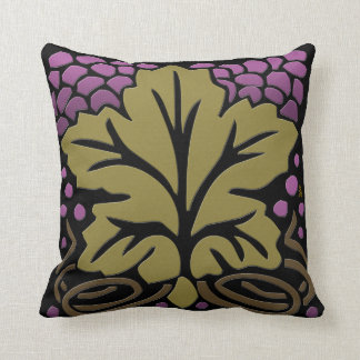 Craftsman Grape Leaf and Grapes Pillow