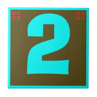 Craftsman House Number Tiles