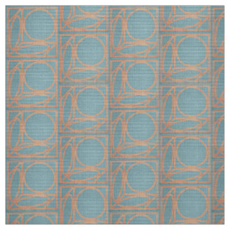 Craftsman Optical Illusion (Chambray and Cinnamon) Fabric