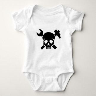 Craftsman skull baby bodysuit