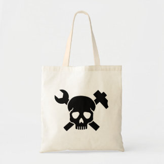 Craftsman skull tote bag