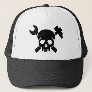 Craftsman skull trucker hat