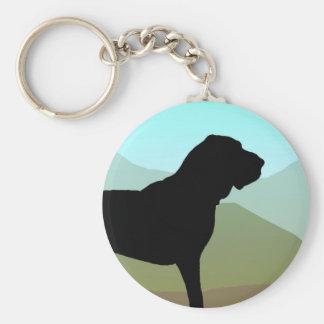 Craftsman Style Bloodhound Dog Basic Round Button Keychain