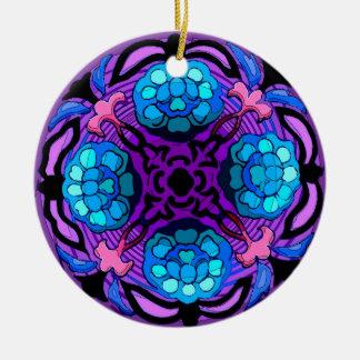 Craftsman Winter Garden (Ceramic Fan Pull / Orname Round Ceramic Ornament