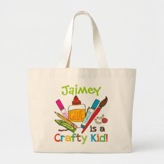 Crafty Kid Custom Large Tote Bag