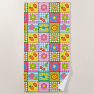 Crafty Quilted Print Beach Towel