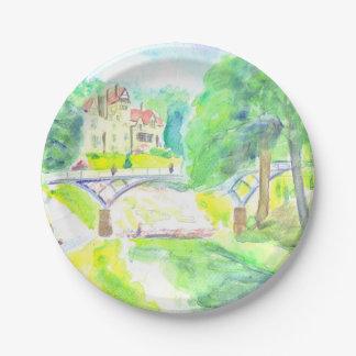 Cragside Hall paper plate