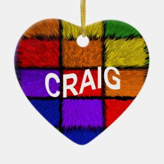 CRAIG CERAMIC HEART ORNAMENT