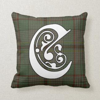 Craig Clan Tartan Monogram Throw Pillow