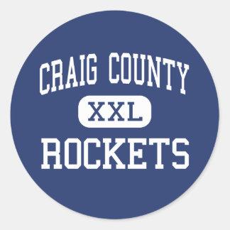 Craig County - Rockets - High - New Castle Round Sticker
