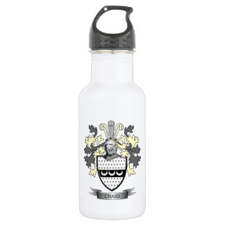 Craig Family Crest Coat of Arms 532 Ml Water Bottle
