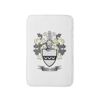 Craig Family Crest Coat of Arms Bath Mat