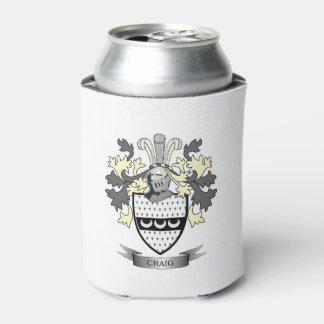 Craig Family Crest Coat of Arms Can Cooler