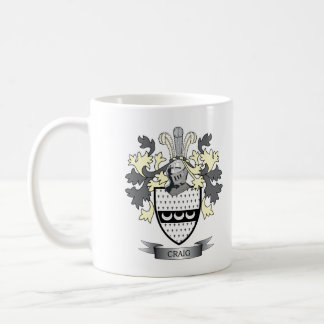 Craig Family Crest Coat of Arms Coffee Mug