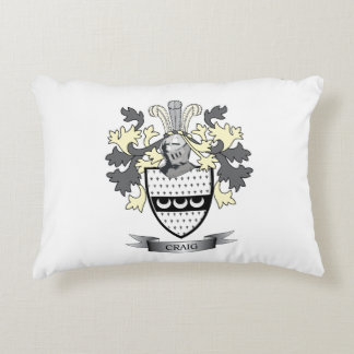 Craig Family Crest Coat of Arms Decorative Pillow