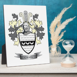 Craig Family Crest Coat of Arms Display Plaques