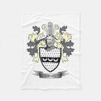 Craig Family Crest Coat of Arms Fleece Blanket