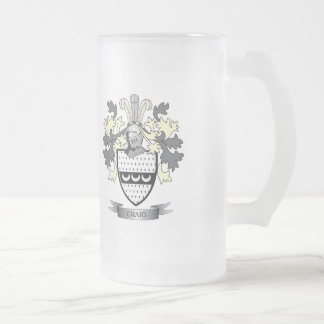 Craig Family Crest Coat of Arms Frosted Glass Beer Mug