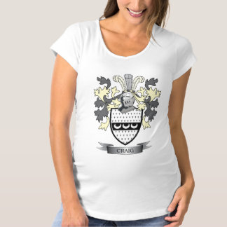 Craig Family Crest Coat of Arms Maternity T-Shirt