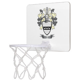 Craig Family Crest Coat of Arms Mini Basketball Hoop