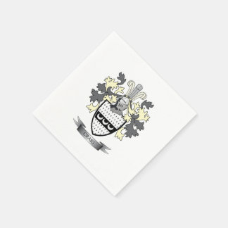 Craig Family Crest Coat of Arms Paper Napkin