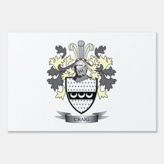 Craig Family Crest Coat of Arms Sign
