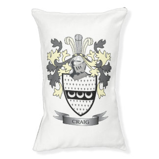 Craig Family Crest Coat of Arms Small Dog Bed